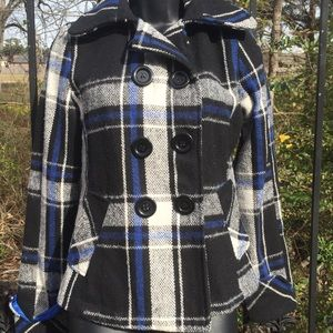 Body Central polyester /wool blend plaid coat